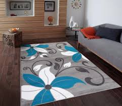 coffee tables turquoise and white rug turquoise and gray area