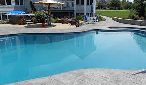 stamped concrete pool deck concrete craft