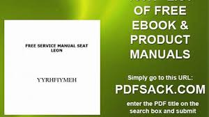 free service manual seat leon video dailymotion