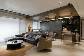 masculine sofas stone and wood make a dark masculine interior