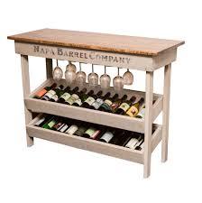 wine tables and racks old world napa vineyard wine table and rack