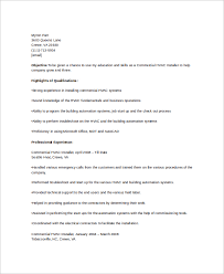 sample resume for electrician sample hvac resume template 6 free documents download in word pdf