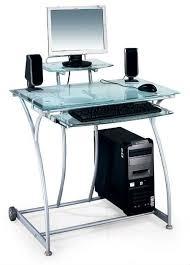 Nouvellement Clear Glass Design Pc Bureau Bureau D Ordinateur Bureau Ordi