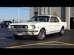 1965 ford mustang gt coupe in white paint u0026 engine sound on my car