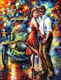 beautiful tango u2014 palette knife oil painting on canvas by leonid