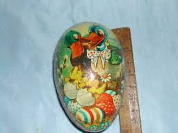 german paper mache easter eggs collectible vintage german paper mache easter egg smaller