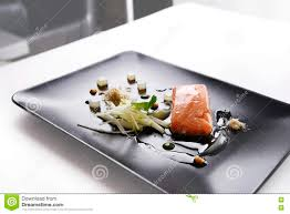modern cuisine molecular modern cuisine fish stock photo image of salad