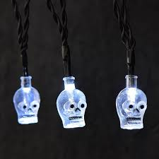 skull led battery operated halloween string lights