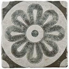 merola tile costa cendra decor zinnia 7 3 4 in x 7 3 4 in