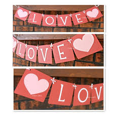 s day decorations hearts flag party supplies wedding decorations