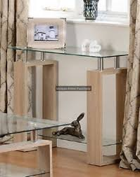 small glass console table glass console table wooden hallway furniture small modern hall oak