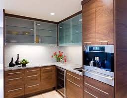 frosted glass backsplash in kitchen frosted glass kitchen cabinet doors brown plywood granite counter