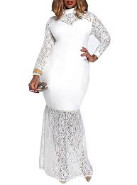 size white lace maxi dress long sleeve sweetheart neckline