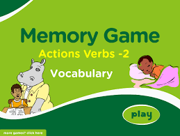 Mãªme In English - action verbs memory game part 1 for english learning beginners blog