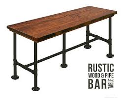 bar height table industrial bar table 42h w h style steel legs industrial pub