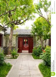 asian chinese antique buildings courtyards whit stock photo