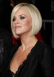 bib haircuts that look like helmet hair cut in a jenny mccarthy bob to soften a strong jaw line
