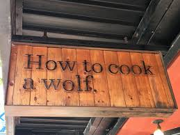 A Wolf At The Table Moments Of Delight Anne Reeves Seattle How To Cook A Wolf