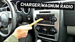 2007 dodge charger radio dodge charger radio replacement removal dodge magnum