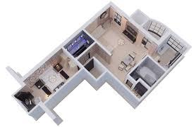 3d apartment corona interior 3d model