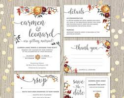 wedding invitation set wedding invitation kits etsy ie