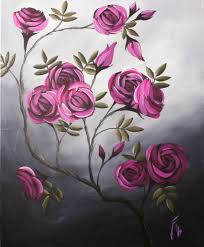 halloween canvas paintings what colors to use for a blended black background look coming up roses step by step acrylic painting on canvas for