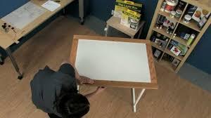 porta trace light box how to assemble the gagne porta trace light table youtube