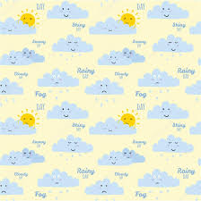 unusual seamless childish pattern with cartoon and funny smiley