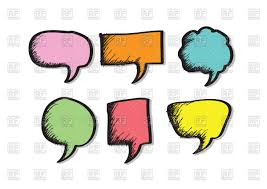 speech bubble hand drawn cartoon hand drawn speech bubbles royalty free vector clip art
