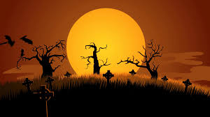 a halloween background a creepy graveyard halloween background scene zombie spooky moon