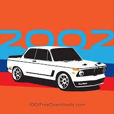 bmw vintage free vectors bmw 2002 vintage