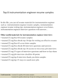 Best Resume Download For Fresher by Top8instrumentationengineerresumesamples 150407031441 Conversion Gate01 Thumbnail 4 Jpg Cb U003d1428394524