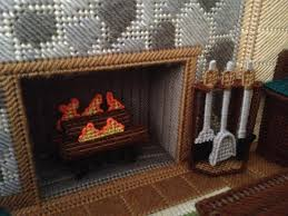 Fireplace Stuff - fire and fireplace tools plastic canvas project for fashion