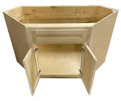 corner kitchen sink base cabinets diagonal corner sink base cabinet unfinished poplar shaker style 42