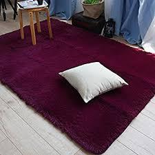 3x4 Area Rugs Soft Burgundy Carpet For Living Room Modern Rug