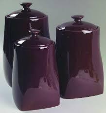 purple kitchen canisters dezinox stainless steel set of 3 jars