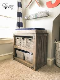 Changing Table Shelves by Diy Changing Table Free Plans And Video Tutorial Shanty 2 Chic
