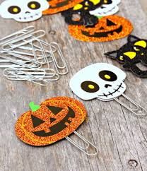 easy halloween crafts day 2 paperclip bookmarks bookmarks and