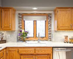 houzz kitchens backsplashes gallery modest kitchen backsplash with oak cabinets oak cabinet