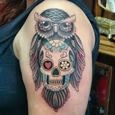 10 best owl and skull tattoo images on pinterest owl heart and