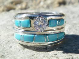 turquoise wedding rings wedding rings american indian navajo wedding rings band