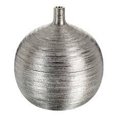 vase boule striée silver silver pinterest metallic true