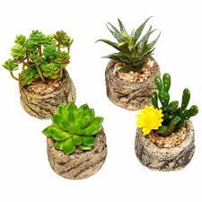 home decor artificial plants flower stone plant set promotion shop for promotional flower stone