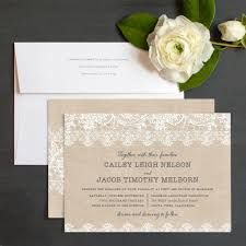 burlap wedding invitations burlap lace wedding invitations by emily elli