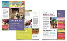 humanitarian aid organization newsletter template word u0026 publisher