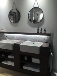 unique hanging bathroom mirror placement ideas orchidlagoon com
