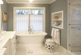 Gray Bathroom Window Curtains Bathroom Cafe Curtains Design Ideas
