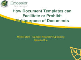 how document templates can facilitate or prohibit multipurpose docume u2026
