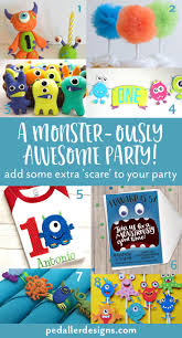 plan the best monster themed birthday party u2014 pedaller designs