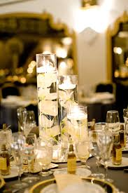 Centerpiece For Table by Yellow Petals For Wedding Centerpieces With Candles With Wedding